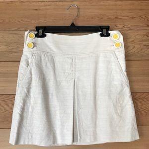 J.Crew Cotton/Linen Front Pleat A-Line Skirt, 2